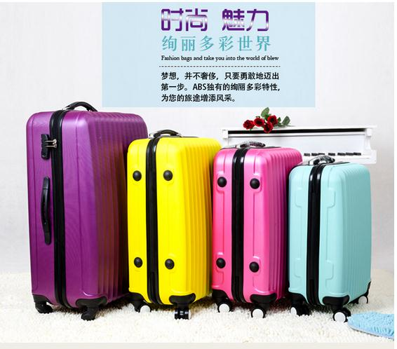 Promotion! Free shipping cheap abs travel luggage suitcase 24 spinner suitcase(China (Mainland))
