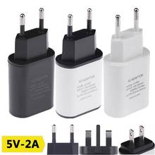 Buy 5V2A USB Charger EU US UK Plug USB Travel Power Adapter Mobile Phone Fast Wall Charger iPhone 5 7 6S 6 plus Redmi Note 3 for $3.49 in AliExpress store