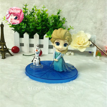 10CM New Cartoon Moive Princess Elsa PVC Action Figure Toy for Kids