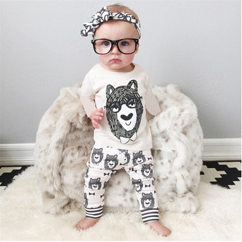 Infant Baby Clothing Sets Boy Long Sleeve T-shirt+Pant Girls Spring Autumn Outfit Set Toddler Monster Clothes 0-2Y