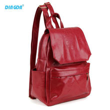HOT !!! Free Shipping College Style Pu Leather Backpack 7 Colors Women Travel Bag School Backpack Pouch Mochila Women Backpack(China (Mainland))