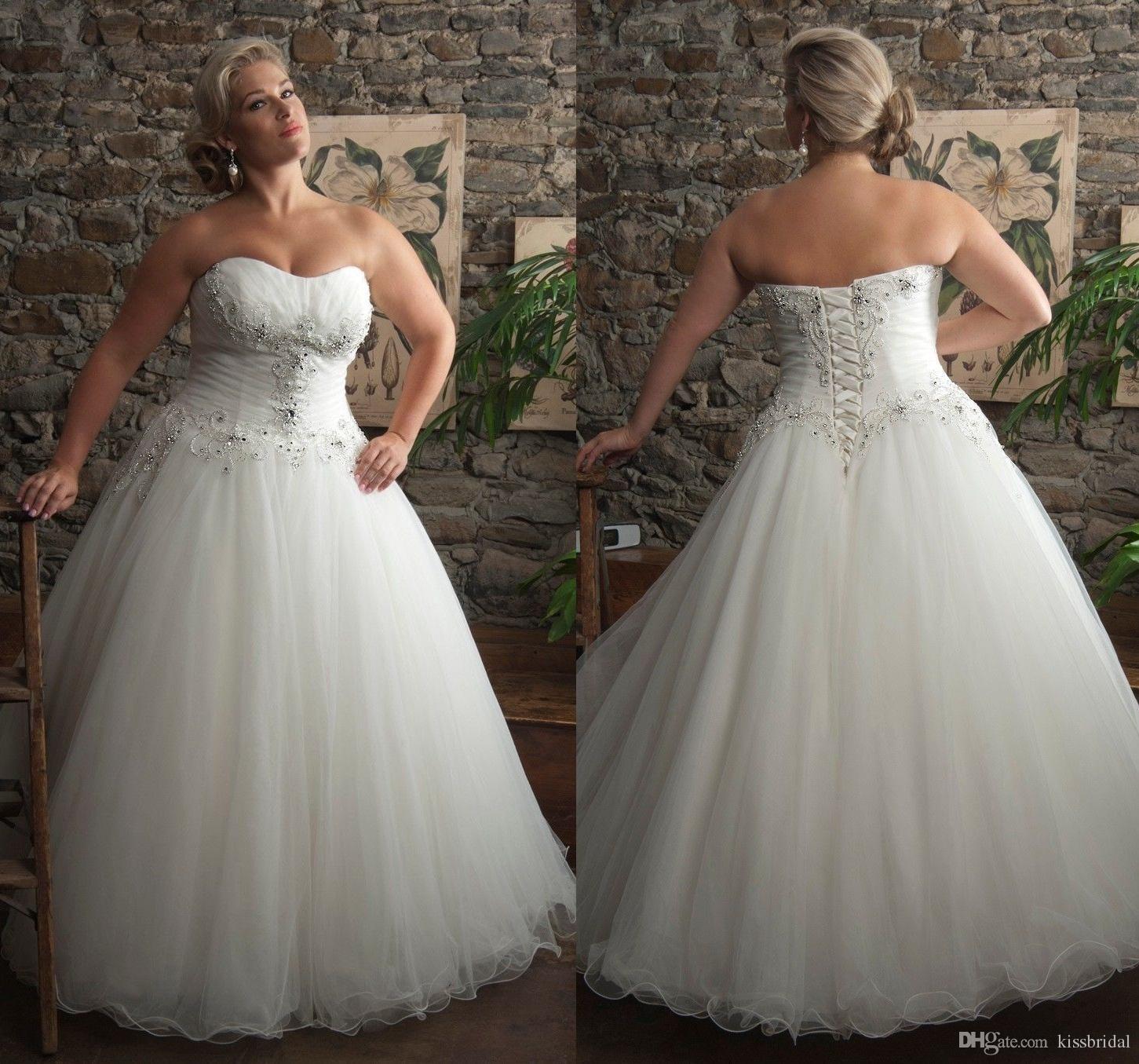 Buy 2016 plus size wedding dresses for Beaded a line wedding dress