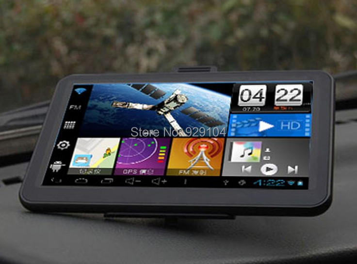 """7"""" android Car GPS navigator navigation 800*480 Android 4.0  cortex-A8 HD 800x480 WiFi 1GHz 512M 8GB ,AV-IN+ Free maps(China (Mainland))"""