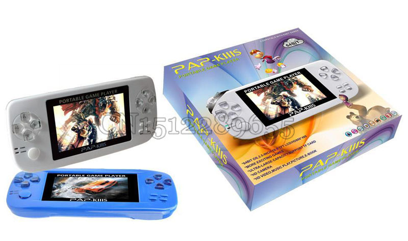 PAP-K3S Handheld Game Console Multi-functional game player built in 600 games TF card expansion supported,FREE Shipping(China (Mainland))