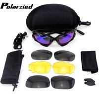 New Polarized  4 Pairs Lens Jawbone Cycling Bicycle Bike Outdoor Sports Sun Glasses Eyewear Sunglasses Free Shipping