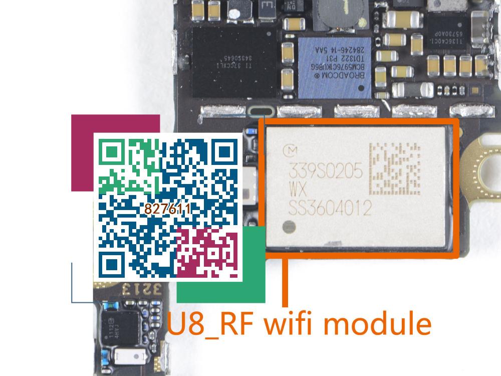 2pcs/lot U8_RF IC For iphone 5S wifi wi-fi Bluetooth WLAN module chip on Logic board(China (Mainland))