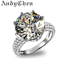 Wedding crystal diamond engagement fashion classic 925 sterling silver jewelry Miss New Independent paragraph ring ASR064