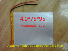 The New Battery 5500mAH Li-ionbattery For 7,8,9 inch  ICOO 3.7V Polymer lithiumion Battery With High Quality