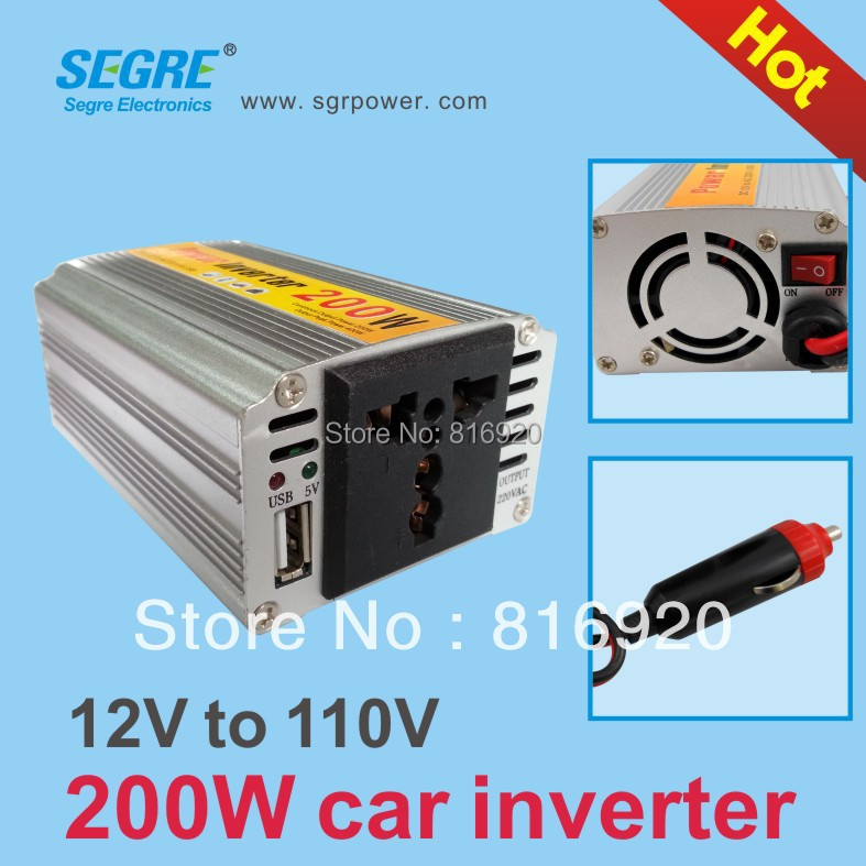 1pcs/lot 200W USB 5V 1A Factory outlets high power car Inverter Free Shipping.(China (Mainland))