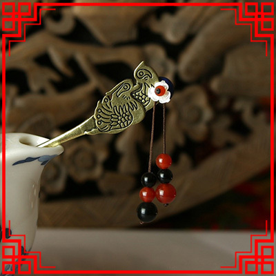 Ethnic jewelry fashion vintage hair accessories,thailand carved agate hair jewelry, ethnic hair stickers hairpins(China (Mainland))
