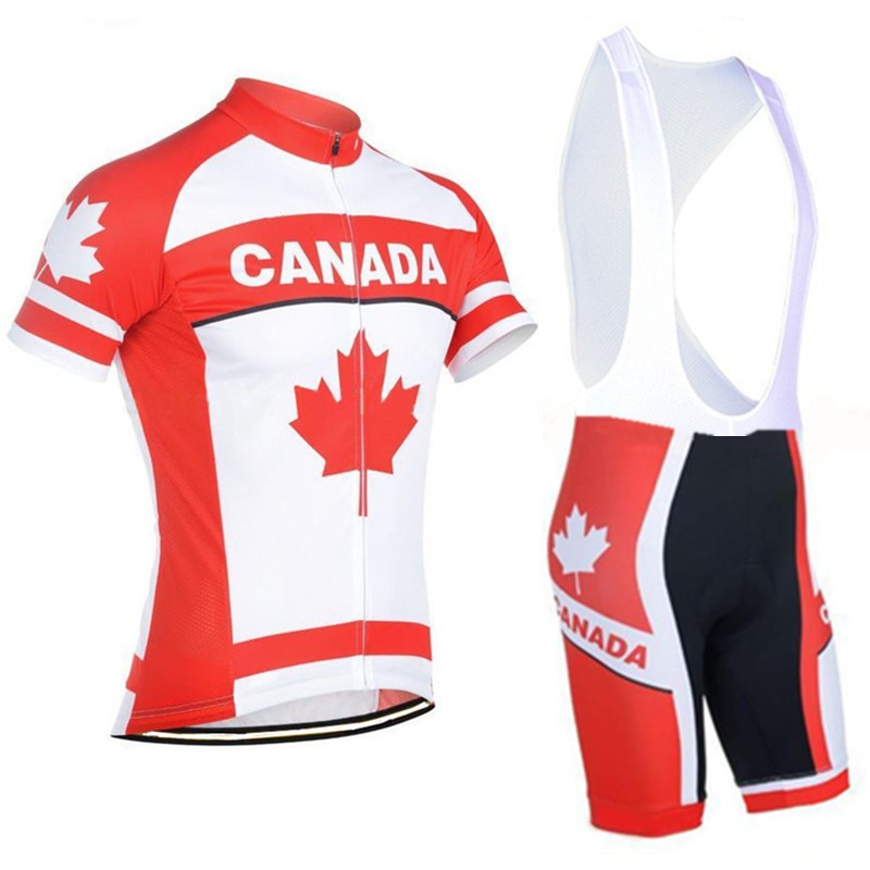 2016 Team canada summer mens quick-dry Cycling jerseys flag breathable cloth MTB Ropa Ciclismo Bicycle maillot rider clothing(China (Mainland))
