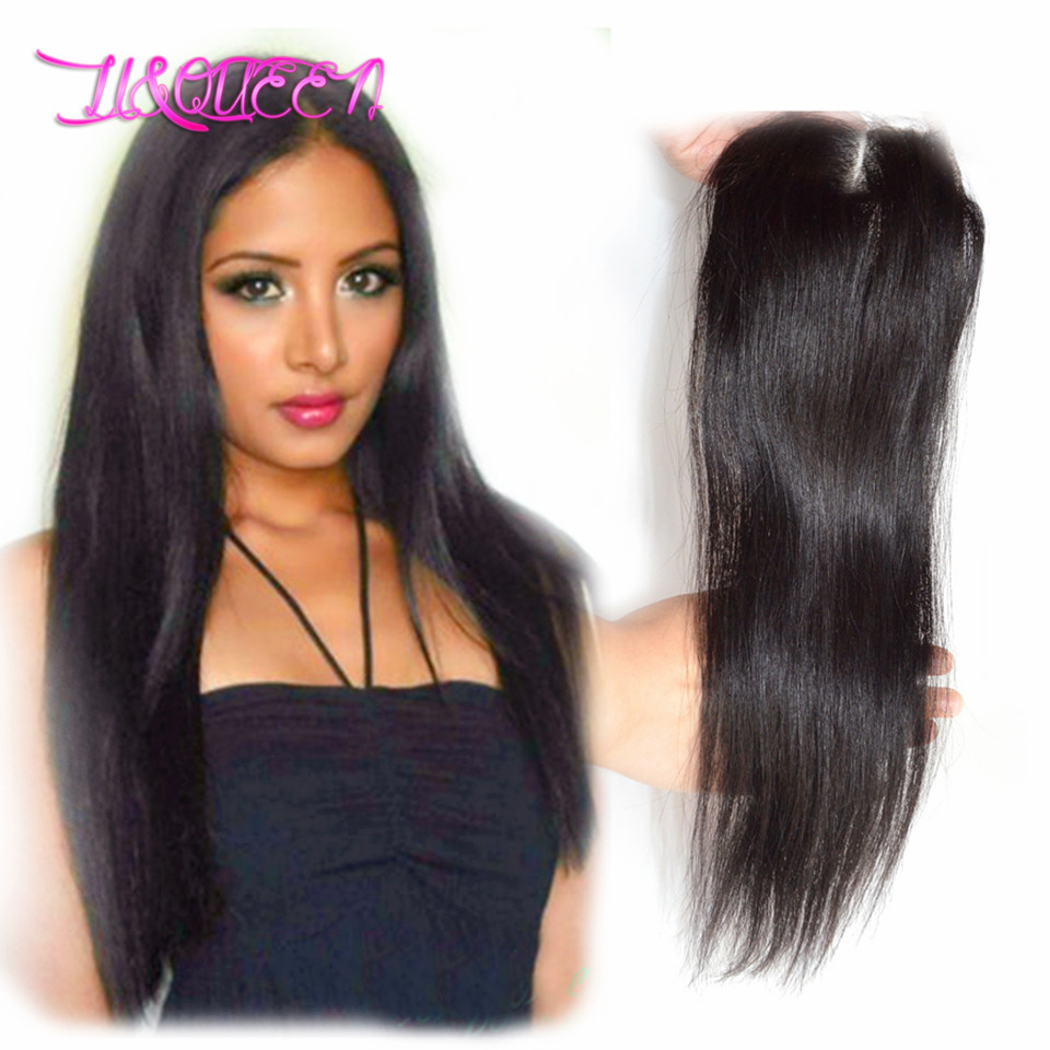 brazilian virgin hair closure queen hair products brazilian virgin hair straight closure human hair lace closure(China (Mainland))