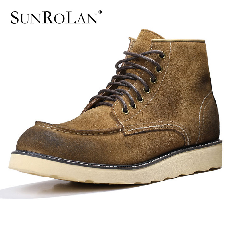 Men fashion casual boots male high-top 2015 spring/autumn men Martin Genuine leather boot shoes velvet G3713 - SHOES COUNTRY store
