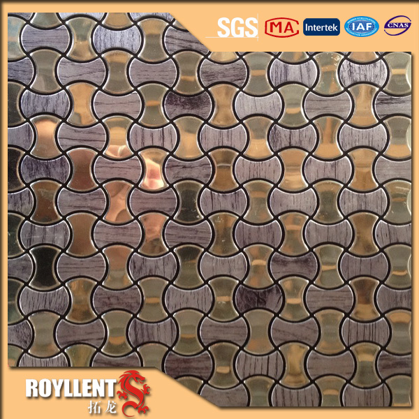Royllent Acp mosaic cheap mixed color adhesive interior designs kitchen backsplash wall sticker decoration tile home improvement(China (Mainland))