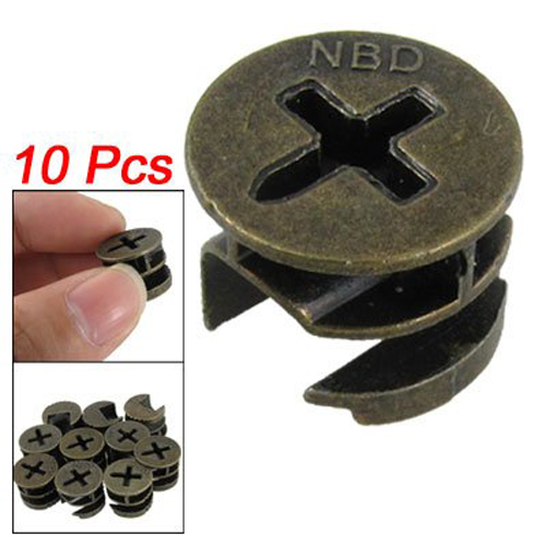 Best selling Amico Furniture Cabinets Metal Cam Fittings Connectors 10 Pcs(China (Mainland))
