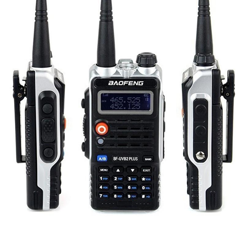 BaoFeng BF-UVB2 Plus 8W 4800mAh Li-ion Battery Dual Band Portable Two Way Radio Walkie Talkie 10km UHF VHF FM VOX EU/US Plug - Hertz Tech store