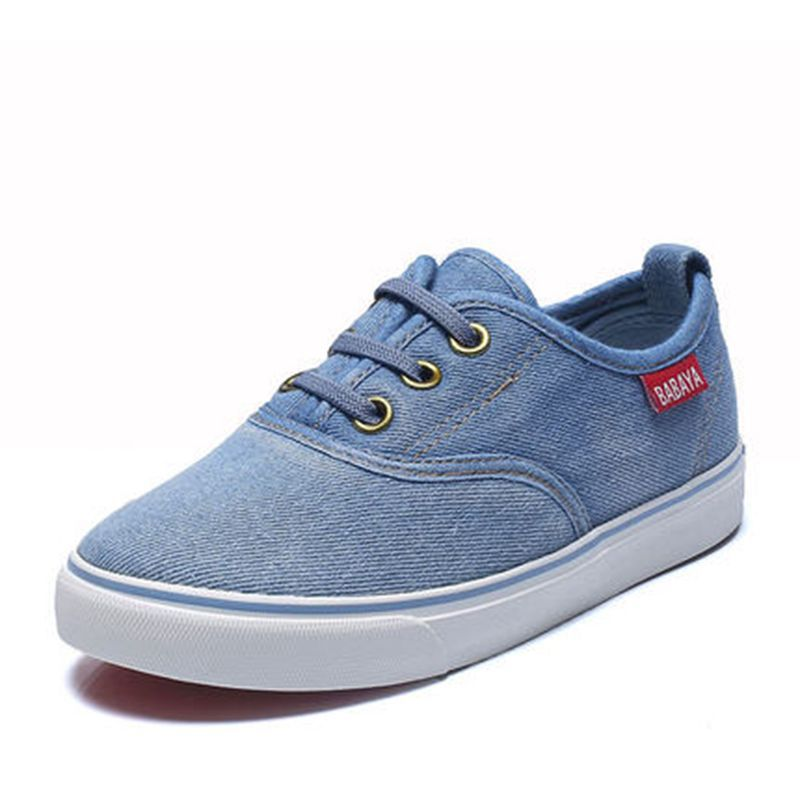 2015 new spring autumn children sneakers kids canvas shoes boys girls denim cloth shoes jeans elastic band solid color size23-37<br><br>Aliexpress