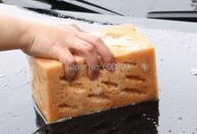 2015 New Fashion Hot Sale Mini Yellow Car Auto Washing Cleaning Sponge Block free shipping(China (Mainland))