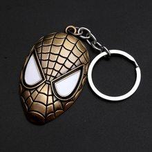 Brinquedos marvel avengers capitão américa escudo chaveiro homem aranha homem de ferro máscara chaveiro brinquedos hulk batman chaveiro presente chave brinquedos(China)