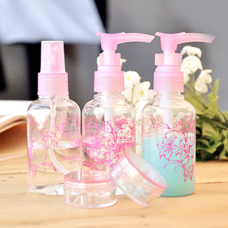 travel cosmetics bottling bottle spray five suit compression plastic 7202 - VIPexpress store