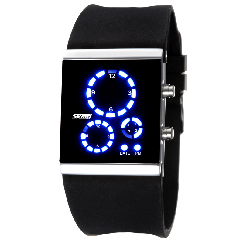 SKMEI Brand 0984 Unisex Fashion Watches Digital Display Water Resistant  LED Light Jelly Strap Wristwatches<br><br>Aliexpress