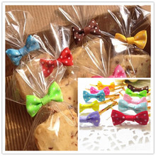 100PCS Bowknot dot pattern Sealing wire bakery packing sealing bread cake decoration Wire Twist Tie(China (Mainland))