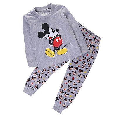 Baby Boy Girl Kid Mickey Mouse Homewear Sleepwear Pyjama set Sleepsuit Nightwear