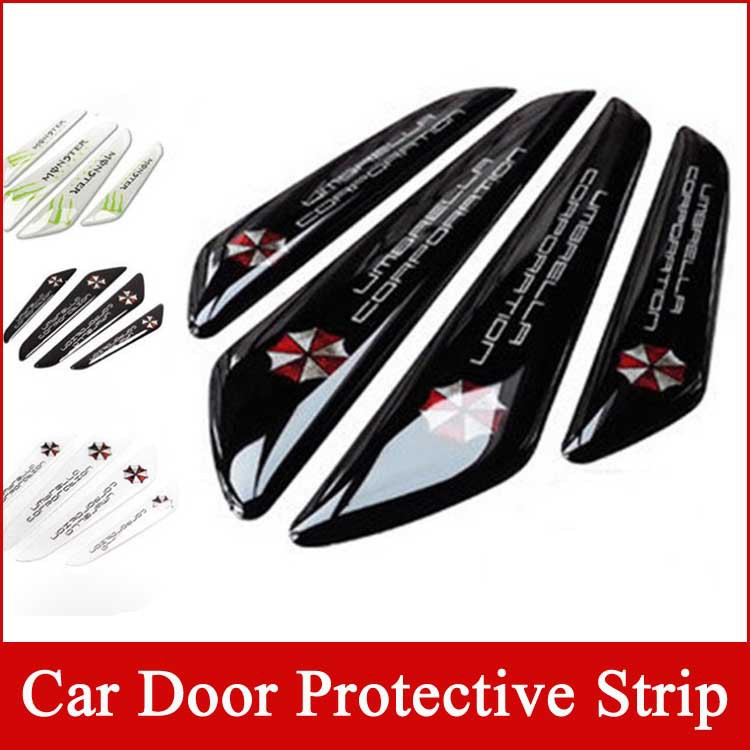 Car styling door edge 3D protection stickers Resident Evil cars decals umbrella corporation covers for ford nissan toyota vw kia(China (Mainland))