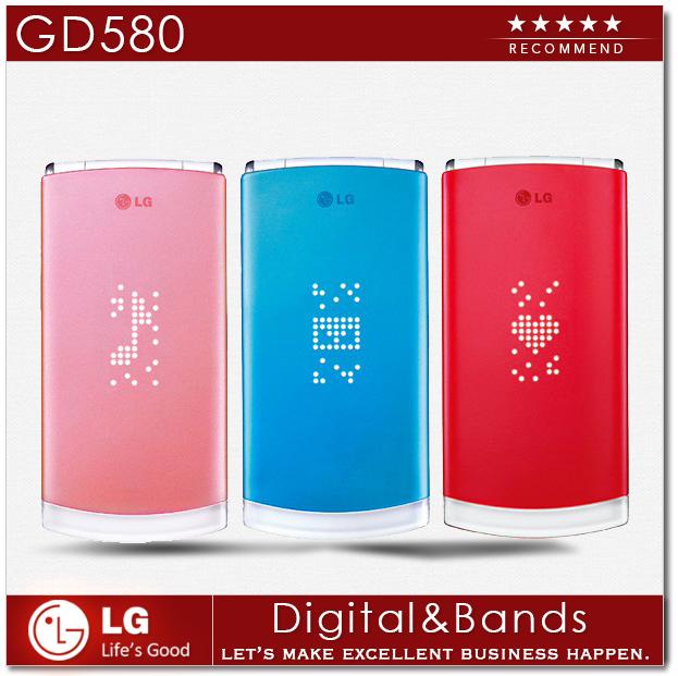 """Original Unlocked LG GD580 Lollipop GD580e Mobile Phone WCDMA Bluetooth MP3 2.8"""" Flip 3.15M External Hidden OLED Cell phones(China (Mainland))"""