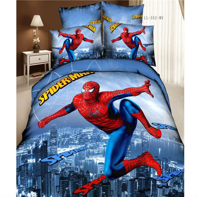Высокое качество 100% хлопок 3D постельного белья король / королева 4 шт. ( 1 шт. простыня 1 шт. одеяло покрытие + 2 шт. наволочки ) человек паук