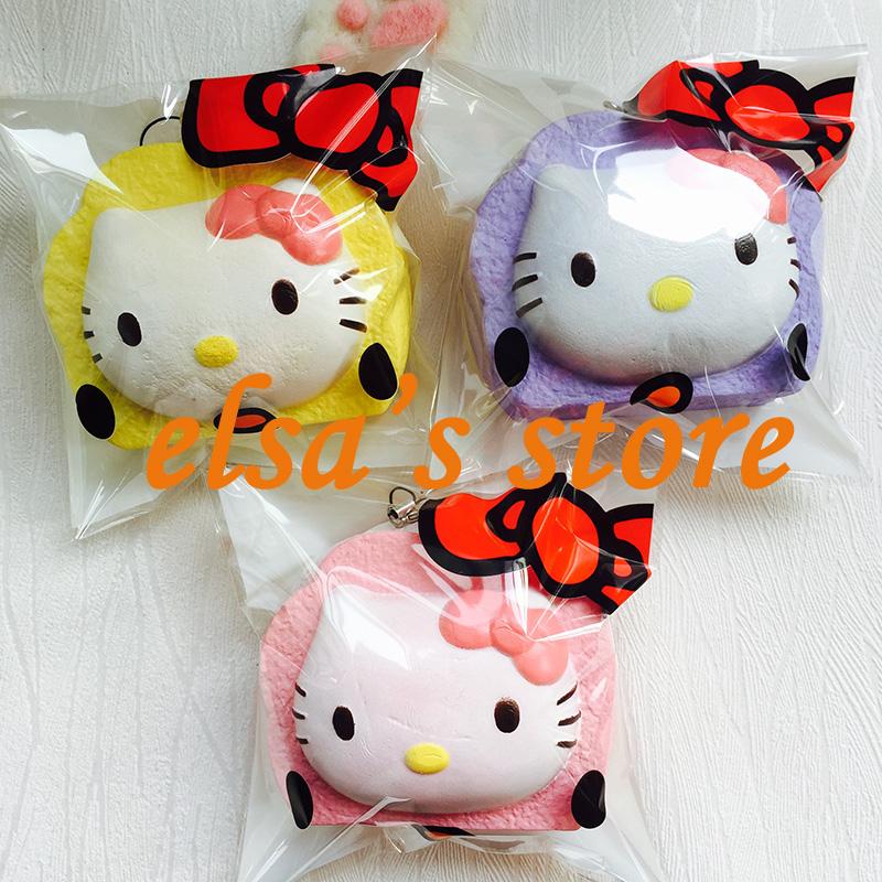 squishies wholesale 20pcs Super jumbo squishy KAWAII RARE 10cm hello kitty squishy with tags ...