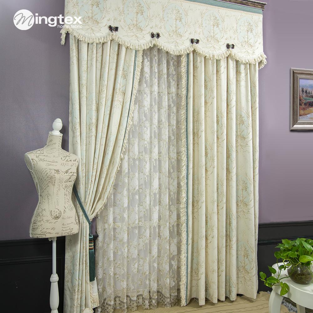 Estilo americano cortina cortina quarto cortina de renda - Estilo de cortinas ...