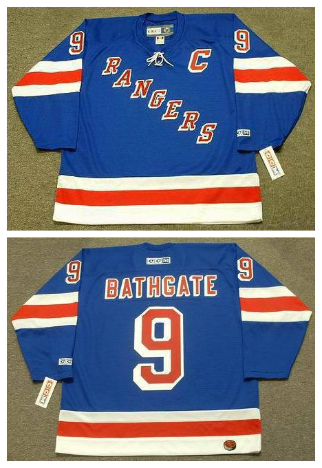 Mens cheap Stitched New York Rangers Ice Hockey Jersey 9 ANDY BATHGATE Rangers 1960s  Vintage Throwback Jersey with Tie<br><br>Aliexpress