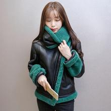 2016 Winter New Korean Thicken Warm Version Lamb Wool Jacket Women Short Paragraph Slim Big yards Fashion PU Jacket Coat G0400
