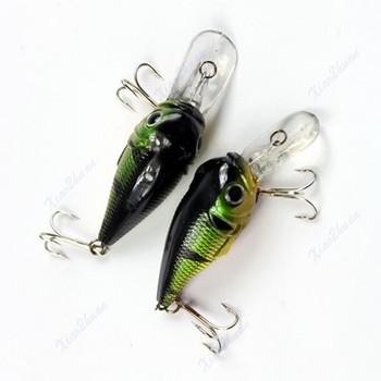 G104free доставка 50 мм 5 г тонет рыболовные приманки гольян кривошипно приманки Crankbait снасти высоких крюк