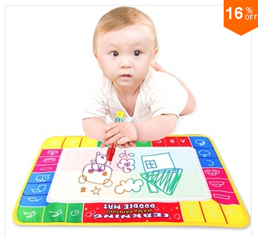 Free shipping holiday sale In Stock CP1366 29X19cm Water Doodle Mat with 1 Magic Pen Drawing Toys Mat /Aquadoodle Drawing Mat/(China (Mainland))