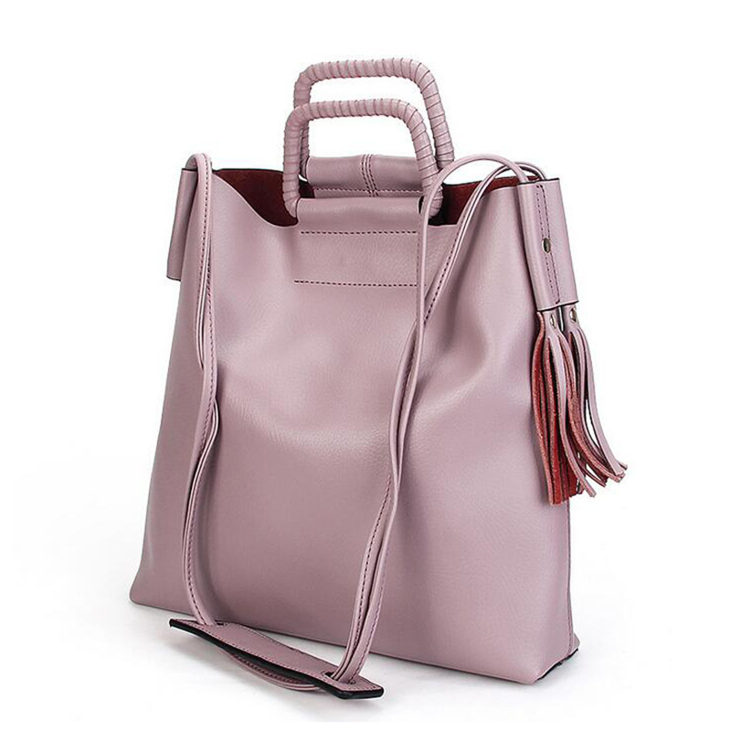 2016 New Brand Fashion Litchi Handbags Women Genuine Leather Crossbody Bag Famous Designer Female Shoulder Bag Pink Tote Bag(China (Mainland))