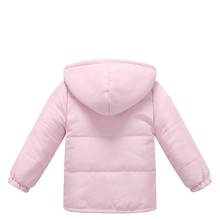 Fashion Autumn Winter Baby Girl Soft Clothing Infant Bebe Girl Coat Pink Cotton Jackets Clothes Newborn