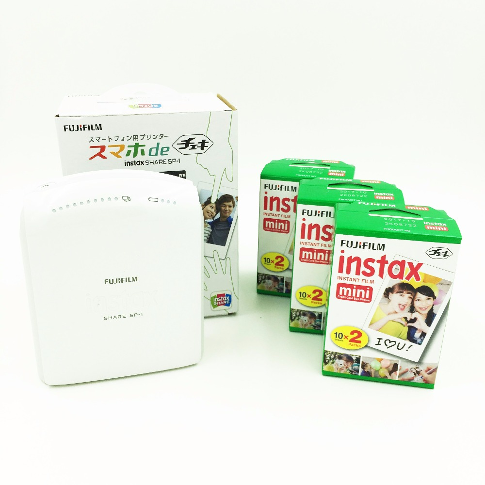 Fujifilm Instax Share SP-1 Mobile Printer for Fuji Instax Mini Film Supports Android iOS + 60 Instant Film Free Shipping(Hong Kong)