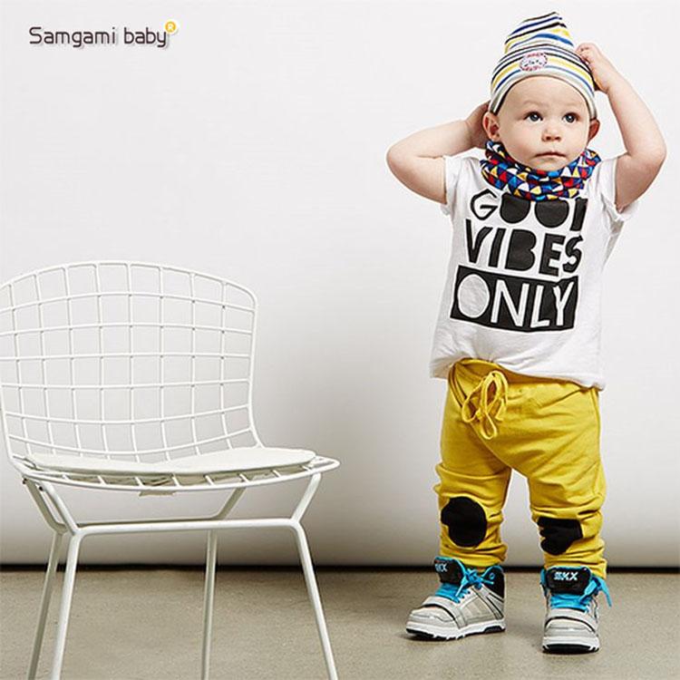 Nuovo stile di estate vestito di sport di modo del neonato vestiti set morbido e traspirante tessuto modale bambini ragazzi tuta 2 pezzo set(China (Mainland))
