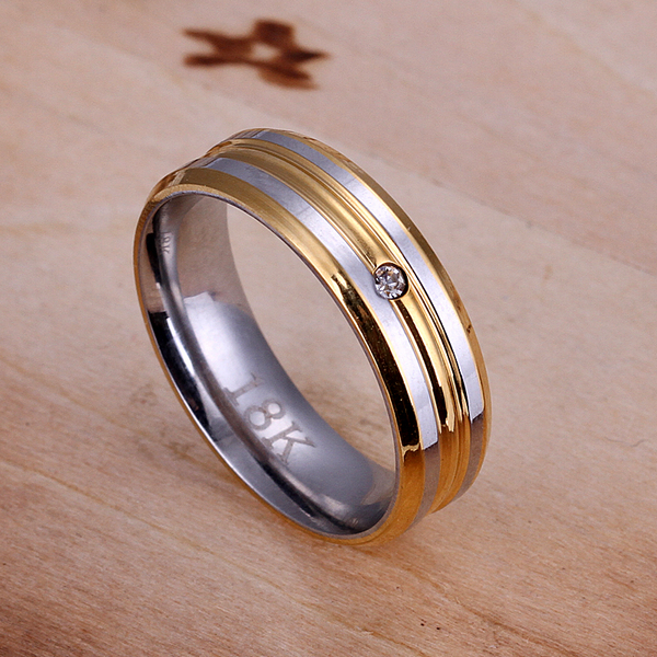 wholesale fine 925 sterling silver ring 925 silver jewelry fashion man-made diamond gold plated rings for women/men SR100(China (Mainland))