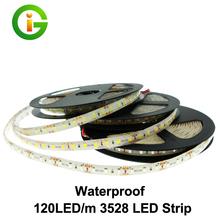 120 LED/m 3528 LED Strip Waterproof DC12V Flexible LED Light White / Warm White / Red / Green / Blue LED Strip 3528 / 2835.(China (Mainland))