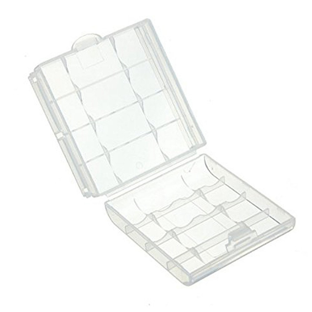 image for 14500/10440  Hard Plastic Transparent Battery Storage Boxes Rechargeab