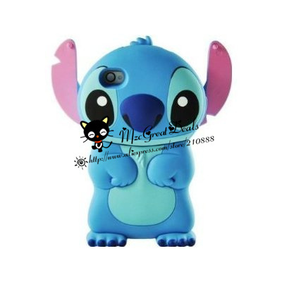 3d Stitch Movable Ear Flip Hard Case Cover for Iphone 4/4s Xmas gift