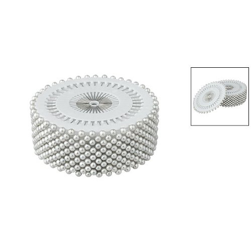 "Best Sale New 480 Pcs Practical Plastic Silver Tone1.5"" Long 3mm Plastic Pearl Head Pins(China (Mainland))"