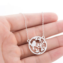 Lovely Cat Pendant Necklace For Women Silver Cute Love Animal Lion Brach Bird Phoenix Baby Girls Birthday Gift Fashion Necklaces(Hong Kong,China)
