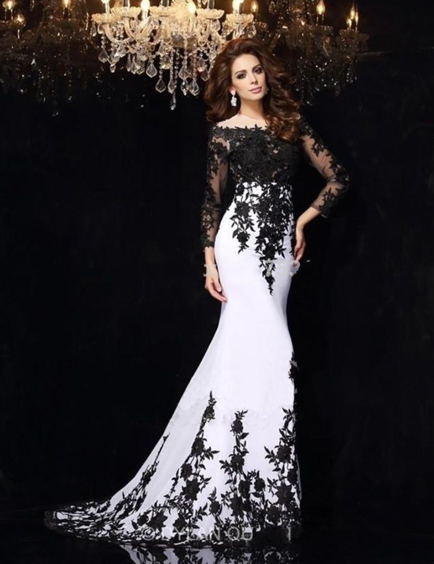 New fashion mother of the bride groom dresses white and for Unique black and white wedding dresses