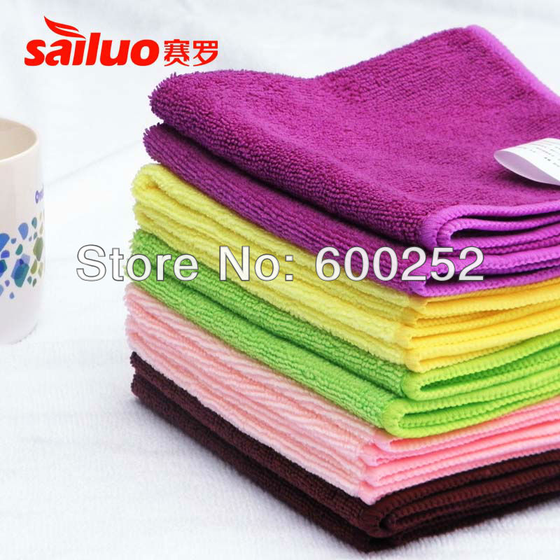 30pc/lot Microfiber kitchen towel Hand cleaning rags Small towels dish cloth floor furniture magic wash towels Free Shippiing(China (Mainland))