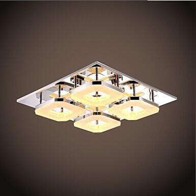 4 Lights Acrylic Flush Mount Modern LED Ceiling Light For Living Room Bedroom