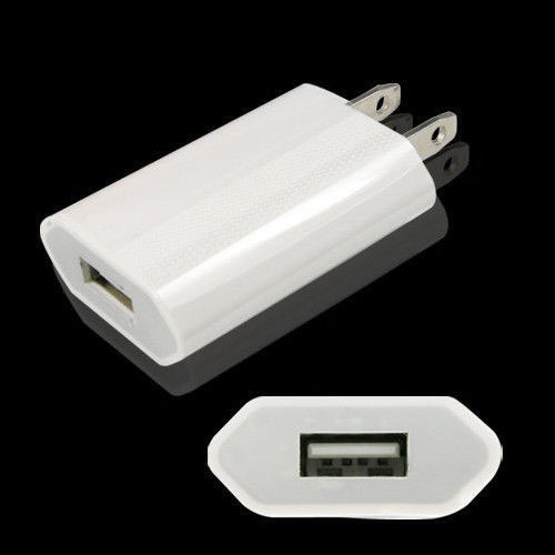 High Quality White European/USA USB AC Travel Wall Power Adapter EU/US Plug Charging Charger Adapter For iPhone 5 5s 4 4s
